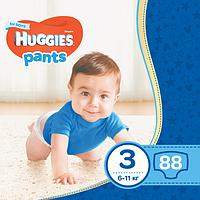 Подгузники-трусики детские Huggies Pants для мальчиков 3 (6-11 кг), Mega Pack 88 шт, фото 1