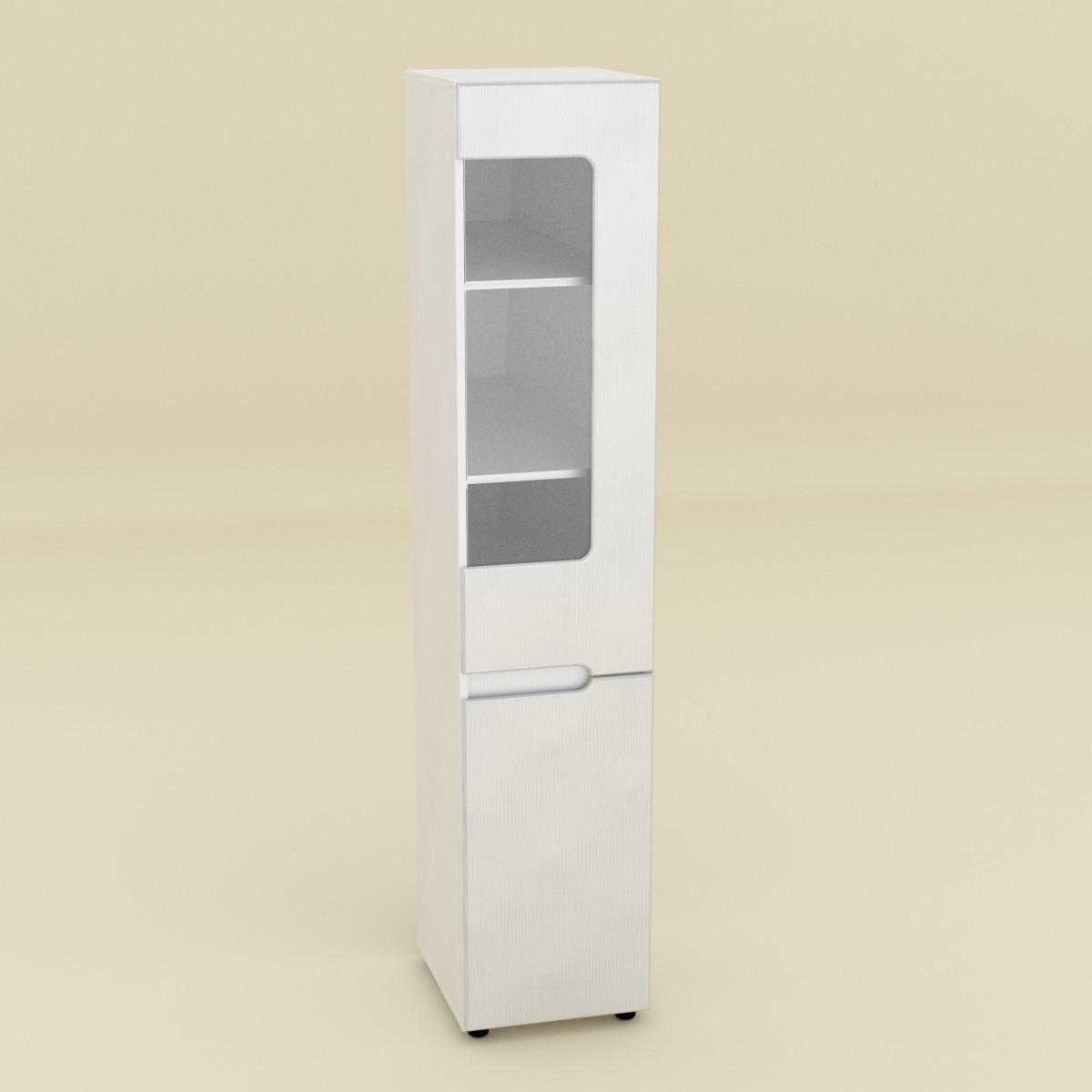 Шкаф книжный МС-24 МДФ правый белый нимфея Компанит (40х47х195 см)