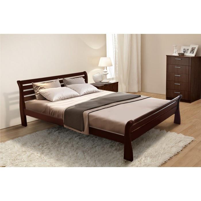 Ліжко півтораспальне 120*200 вільха в спальню дитячу Ретро Елегант Мікс Меблі