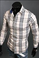 Стильная рубашка мужская L / 41-42