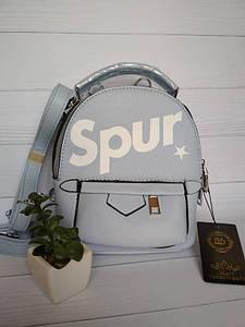 Стильный молодежный мини-рюкзак Spur голубого цвета