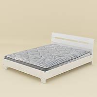 Кровать с матрасом 160 Стиль белый Компанит (164х213х77 см)
