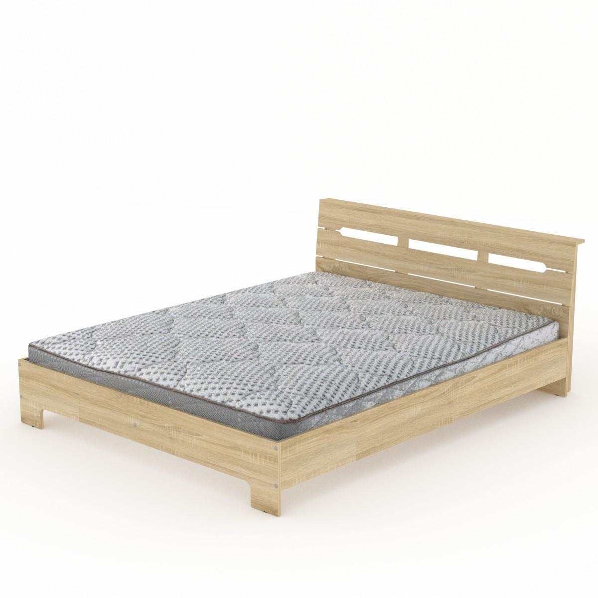 Кровать с матрасом 160 Стиль дуб сонома Компанит (164х213х77 см)