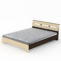 Кровать с матрасом 160 Стиль венге комби Компанит (164х213х77 см)