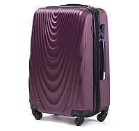 Ударопрочный чемодан пластиковый из поликарбоната большой 93 л бордовый WS403-11
