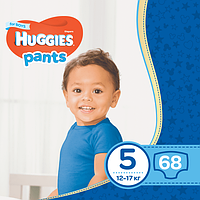 Подгузники-трусики Huggies Pants для мальчиков 5 (12-17 кг), Mega Pack 68 шт.