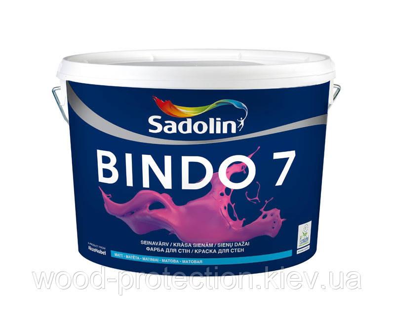 Матовая моющаяся краска для стен и потолка Sadolin Bindo 7 10л.