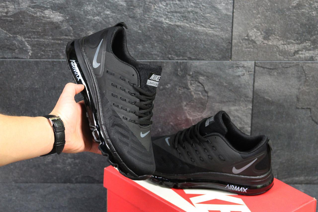 Мужские кроссовки Nike Air Max lunarlaunch черные ( Реплика ААА+) - bonny -style 066734aedf074