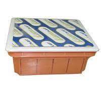 Коробка монтажная распределительная 130*130*55 оранжевая, фото 2
