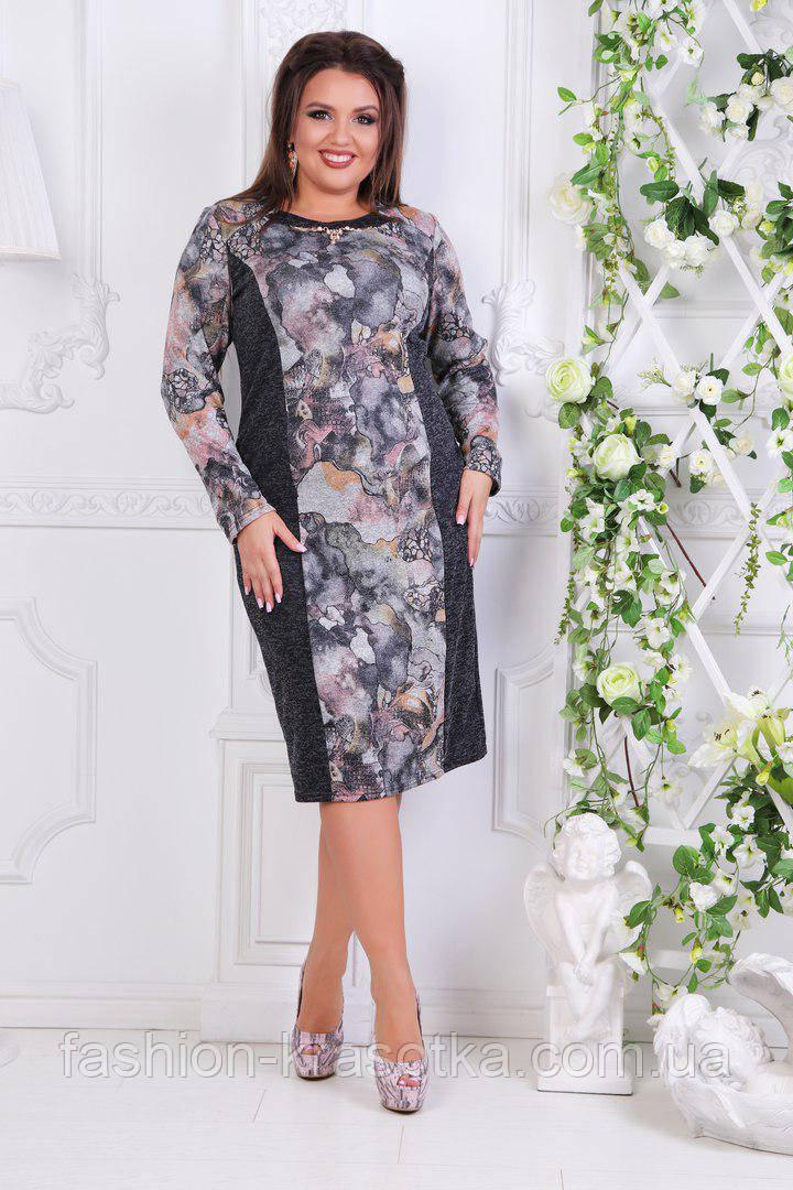 Нарядное женское платье  Люсия в размерах 52-60