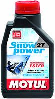 Масло для 2-х тактного двигателя снегохода полусинтетическое Motul Snowpower 2T, 1л