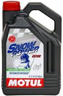 Масло для 2-х тактного двигателя снегохода полусинтетическое Motul Snowpower 2T (4L)