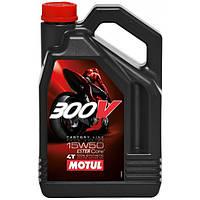 Масло в двигатель мотоцикла Motul 300V 4T Factory Line Road Racing 5W30, 4л