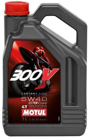 Масло в двигатель мотоцикла Motul 300V 4T Factory Line Road Racing 5W40, 4л