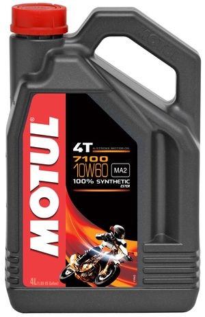 Масло моторное синтетическое для мотоцикла Motul 7100 4T 10W60, 4л