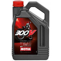 Масло моторное синтетика для мотоцикла Motul 300V 4T Factory Line Off Road 5W40, 4л