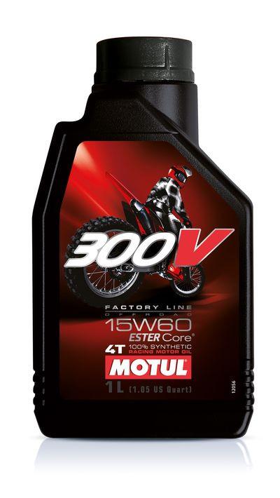 Масло моторное синтетика для мотоцикла Motul 300V 4T Factory Line Off Road 15W60, 1л