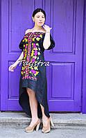 Платье вечернее вышитое платье лен, бохо стиль, Bohemian, этно, выпускное платье