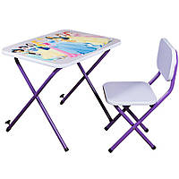 Детская парта Ommi со стульчиком Принцессы Фиолетовая