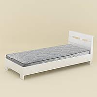 Кровать с матрасом 90 Стиль белый Компанит (94х213х95 см), фото 1