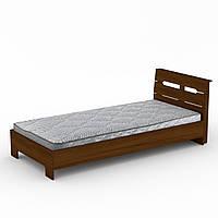 Кровать с матрасом 90 Стиль орех экко Компанит (94х213х95 см), фото 1