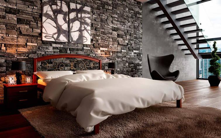 ✅ Деревянная кровать Британия с ковкой 140х190 см. ТМ ЧДК, фото 2