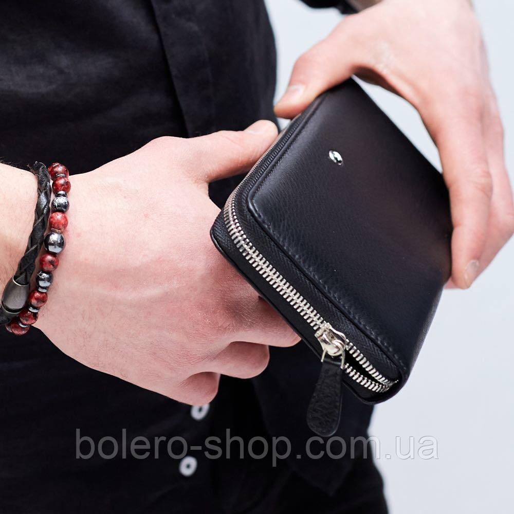 22b766edeb28 Клатч мужской брендовый кожаный черный Mont Blanc - Магазин брендовой  женской и мужской одежды