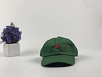 Кепка темно зеленая Hundreds Rose логотип вышивка, фото 1