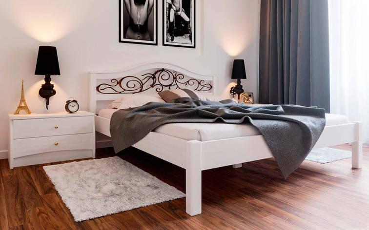 ✅ Деревянная кровать Италия с ковкой ТМ ЧДК, фото 2