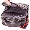 Мужская сумка барсетка Eminsa 6002-4-1 кожаная черная , фото 5