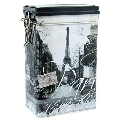 Жестяная банка с клипсой Париж, 500г ( контейнер для сыпучих ), фото 2