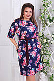 Нарядное женское платье ткань креп костюмка  в размерах 50-56, фото 2