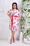 Нарядное женское платье ткань креп костюмка  в размерах 50-56, фото 3
