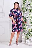 Нарядное женское платье ткань креп костюмка  в размерах 50-56, фото 4