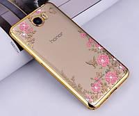Чехол со стразами Huawei Y5 II Goldy (Хуавей У5 2)