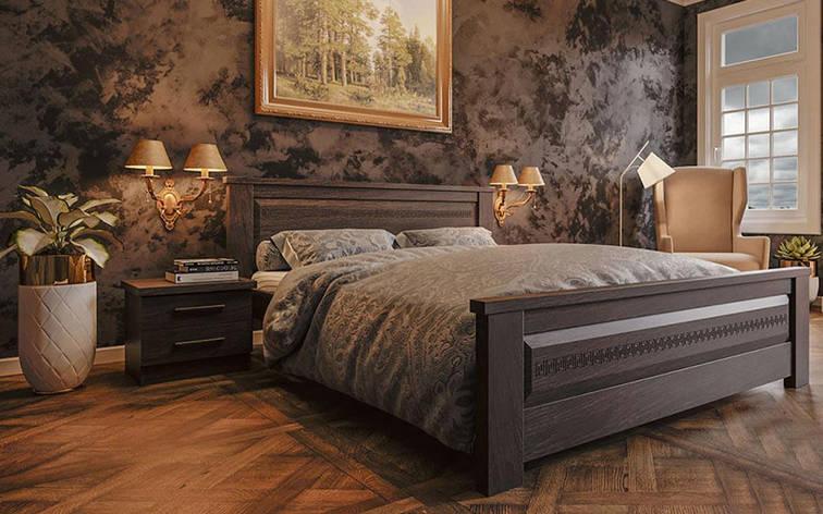 ✅ Деревянная кровать Элит-нью 90х190 см. ТМ ЧДК, фото 2