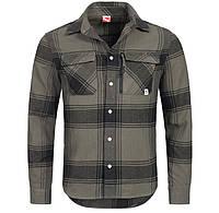 100% Оригинал Рубашка с длинным рукавом в клетку PUMA серая 100% хлопок