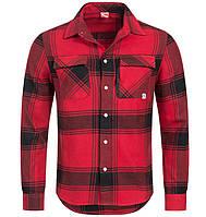 100% Оригинал Рубашка с длинным рукавом в клетку PUMA красная 100% хлопок