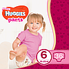 Подгузники-трусики детские Huggies Pants для девочек 6 (15-25 кг), Mega Pack 36 шт