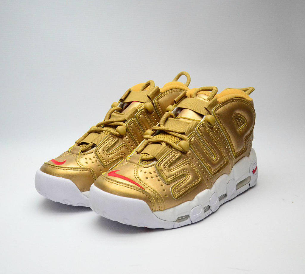 Nike Air More Uptempo x Supreme Gold (реплика)
