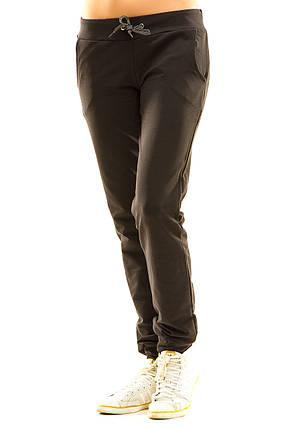 Женские спортивные штаны 411 темно-серые, фото 2
