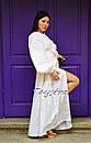 Платье вышитое бохо, этно вышиванка лен стиль бохо шик, вышиванка белым по белому, стиль Вита Кин, фото 6