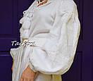 Платье вышитое бохо, этно вышиванка лен стиль бохо шик, вышиванка белым по белому, стиль Вита Кин, фото 8