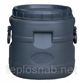Бочка пластиковая техническая 30 литров черная широкое горло