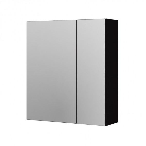Зеркальный шкаф Aquaform Amsterdam 60 чёрный (0408-202911), 595х155х595 мм