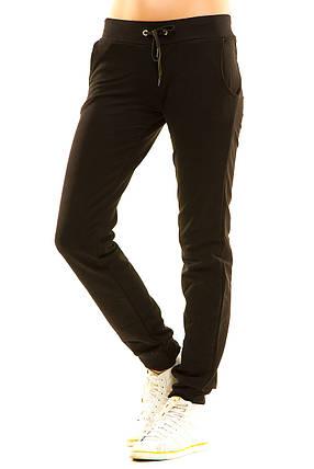 Женские спортивные штаны 411 черные, фото 2