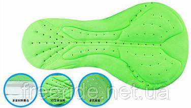 Велотрусы подростковые ROGTYO с 3D памперсом Coolmax 2см (S), фото 2