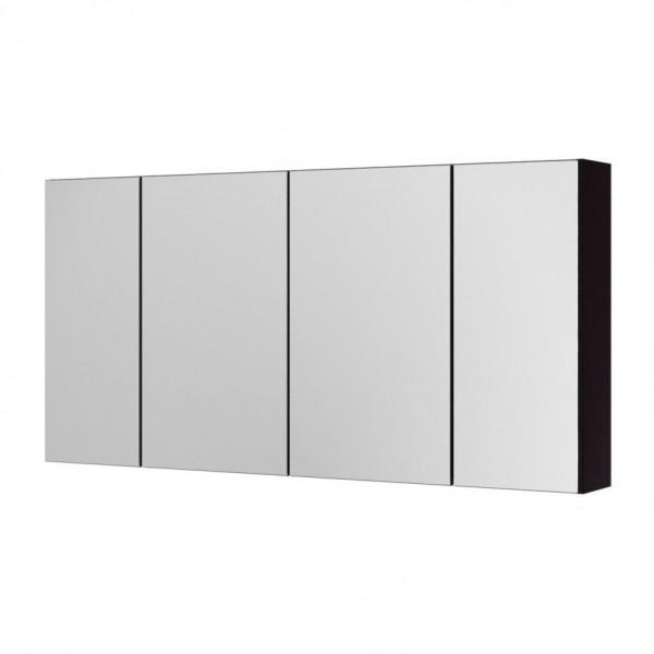Зеркальный шкаф Aquaform Amsterdam 120 чёрный (0408-202912), 1190х155х595 мм