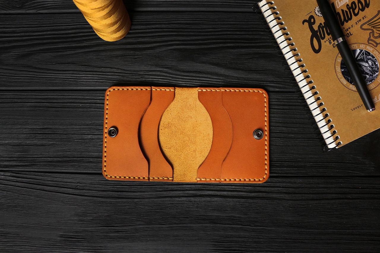 Мужской бумажник ручной работы из кожи Краст VOILE mw3-kgin-tbc