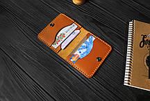 Мужской бумажник ручной работы из кожи Краст VOILE mw3-kgin-tbc, фото 3